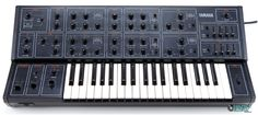 The Yamaha produced is an analog monophonic/duophonic synthesizer. It features two VCOs, two mulitmode filters, LFO, a noise generator and more. Electronic Music Instruments, Digital Instruments, Vintage Synth, Step Down Transformer, Recording Equipment, Cover Band, Drum Machine, Yamaha, Music Things