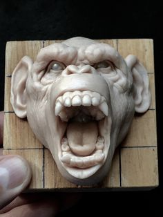 ArtStation is the leading showcase platform for games, film, media & entertainment artists. Ceramic Sculpture Figurative, Sculpture Clay, Monkey Drawing, Mushroom Art, Primates, Animal Sculptures, Clay Art, Art Reference, Sculpting