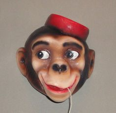 Vintage Monkey String Holder
