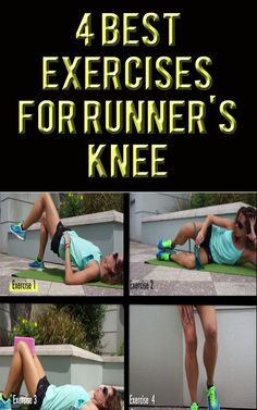 .These exercises are great for pre-hab and re-hab by strengthening many common weakness of runners. #running #exercises #runningtips #knees