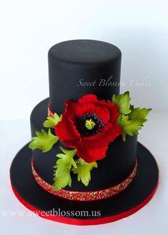Black cake with sugar Poppy - Cake by Tatyana