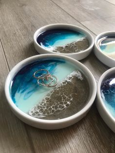 Resin Crafts, Resin Art, Ocean Themed Rooms, Beach Room Decor, Ocean Food, Mermaid Crafts, Tim Allen, Resin Ring, Ring Dish