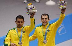Medalhistas brasileiros nos Jogos Pan-Americanos de Toronto-PRATA - BADMINTON - DUPLAS MASCULINO Daniel Paiola e Hugo Arthuso . 17/54 SLIDES © Foto: Julio Cortez/AP