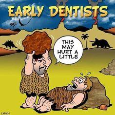 Early Dentists. This may hurt a little.  #DentaltownJokes #DentaltownHumor…