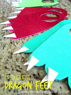 Pinning with Purpose: Foam Dragon Feet