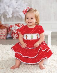 Corduroy Smocked Tiered Dress