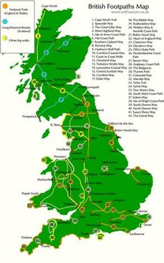 Interactive map of British footpaths, UK. I want to walk some of these.