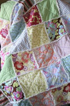 Rag Quilt Throw Size Made to Order Amy Butler Gypsy by justluved, $149.00
