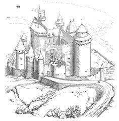 Château de Bonaguil d'après Viollet-le-Duc_Lot-et-Garonne_France