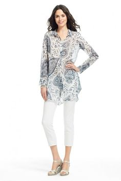 Jennica Paisley Printed Blouse  Calypso St. Barth