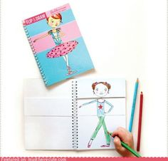 Neat Idea! Cheap dollar store notebook, cut in 3 and let the kids draw! :D