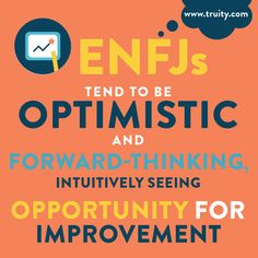 ENFJs tend to be optimistic and forward-thinking, intuitively seeing opportunity for improvement. Myers Briggs Enfj, Myer Briggs, Enfj Personality, Personality Psychology, Enfj T, Fun Facts About Life, How To Improve Relationship, Myers Briggs Personalities, Leadership