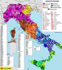 Italic languages and their dialects