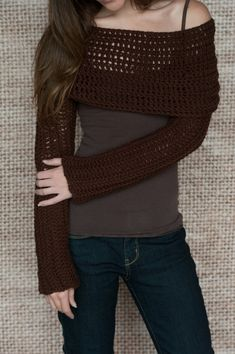 Crochet Pattern - Sleeve Wrap Scarf - Instand Download PDF