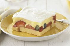 Berry Squares recipe - You bet that I would make this with the Absolutely Almond Pound Cake from Tastefully Simple!