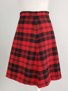 Vintage red tartan mini skirt | Yeah Yeah Retro