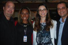 Michael Nagy, do Rio CVB, Luciana Pereira, do SulAmérica, com Milena Palumbo, do Riocentro e André Bento do SulAmérica