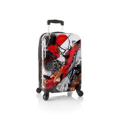 "Spiderman Heys Marvel Luggage 21"" Carry-on Spinner Suitcase"