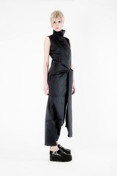 Designer Clothing Plus Size Jumpsuit Linen by MariaQueenMaria