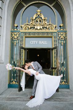 Picture perfect at San Francisco's City Hall. Photography: Jasmine Lee Photography