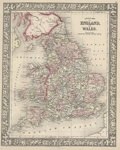 Map of England and Wales - 1866 | Flickr - Photo Sharing!