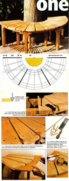 Tree Seat Plans - Outdoor Furniture Plans and Projects | WoodArchivist.com
