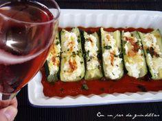 ¡Con un par de guindillas!: Calabacines con requesón; Donna Leon, a la mesa con Brunetti
