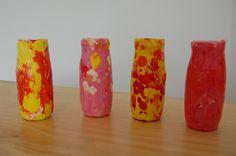 Rasseln DIY aus recycelten Actimel-Flaschen