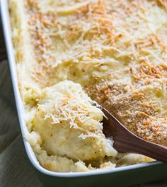 Yummy 3 Cheese Mashed Potato Bake - Recipe, Holidays, Side Dish, Vegetarian, Cheesy