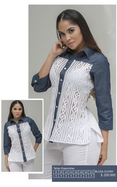 Ref 02/089 Point Lace, Western Wear, Refashion, Jeans Style, Shirts For Girls, Blouse, Coat, Womens Fashion, Casual