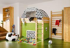 Boys soccer theme bedroom.