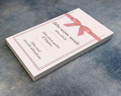 Carte De Visite Feminine Dans Les Tons Roses Pour Une Creatrice Ou Couturiere Creation Couture Artisanat Cartes