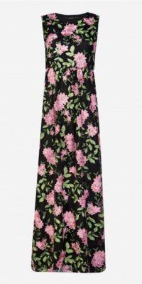 Vestido Tule com Bordado Floral