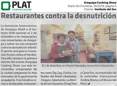 Instituto del Sur: Arequipa Cooking Show en el diario Sin Fronteras de Perú (16/11/16)
