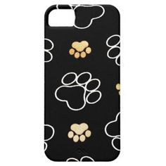 Dog Puppy Paw Prints Gifts for Dog Lovers iPhone 5 Cases SOLD on Zazzle