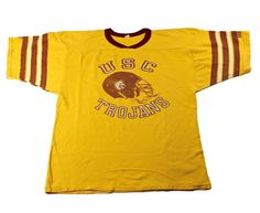 Vintage 1980s 80s USC Trojans College Football Jersey Shirt Mens Size Medium