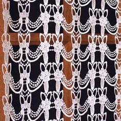 Macrame Lace Cafe Curtains Lace Valances, Macrame Curtain, Curtain Lights, Lacemaking, Cafe Curtains, Shapes, Sewing, Pattern, Couture