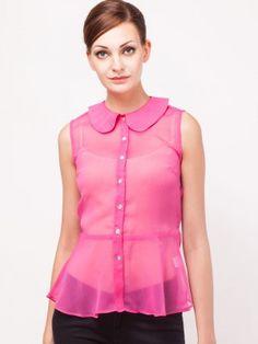 Koovs for Women - Buy Online Women Koovs in India at Koovs Trendy Tops For Women, Chiffon, India, Peplum, How To Wear, Stuff To Buy, Shopping, Button, Fashion
