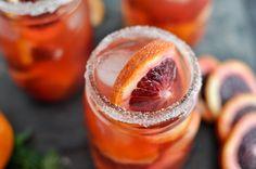 blood orange sangria // How Sweet Eats