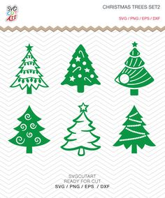Christmas Trees Set2 SVG DXF PNG eps Winter Holidays new Year Cut File for Cricut Design, Silhouette studio, Sure A Lot, Makes the Cut by SvgCutArt on Etsy