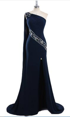 Elegant Long Navy Blue Bridesmaids Dresses Sexy One Shoulder Chiffon Evening Dresses Real Photo Women Party Dresses Formal Prom Gowns - Elegant dresses - Navy Blue Bridesmaid Dresses, Cute Prom Dresses, Party Dresses For Women, Pretty Dresses, Beautiful Dresses, Wedding Dresses, Dinner Dresses, Dresses Dresses, Prom Gowns Elegant