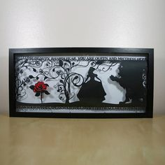 The Beauty of a Beast Papercut by StudioCharley on Etsy, £115.00