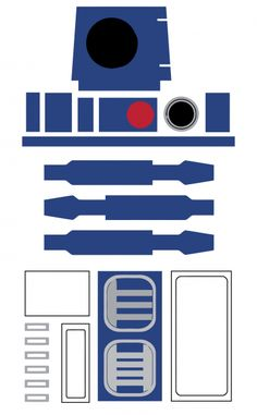 Instant Download.  Star Wars R2-D2 favor bag decoration.  Click here for full instructions.  See all of my Star Wars party ideas here!  For Personal Use Only. Do not modify, change, redistribute or sell.