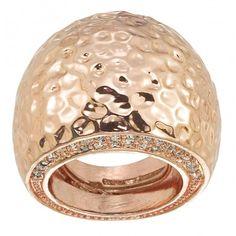 rose gold hammered ring