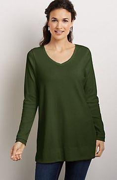 perfect pima cotton v-neck tunic