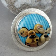Two puppies  Ring by Glasting on Etsy, $180.00