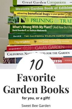 Looking for a gift idea for the gardener in your life, or maybe yourself? Check out our list of our top 10 favorite gardening books! All recommendations from our own bookshelf, that we use and love! Coloring Tips, Food Coloring, Garden Guide, Garden Ideas, Bee Friendly, Recipe Organization, Gardening Books, Family Garden, Organic Gardening Tips