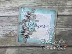 Armed with a vision and a potpourri of Stampin' Up! dies, I spent some quality time in my craft room and created this absolutely stunning shabby chic card! Don't ever be afraid to mix things up! When you do (mix things up) your creativity will be unleashed and you will find inspiration you never knew existed! Trust me! Go! Spend some quality time in your craft room and mix things up today! Follow link for a complete list of the supplies I used. #stampinup #withhisgifts #arelijohnson