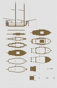 Minecraft sailing Brig plans pg1 hull by ColtCoyote.deviantart.com on @DeviantArt