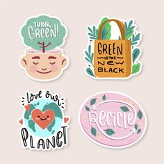 Freepik - Hand drawn ecology badges for better world Free Vector [AI - EPS] - Pikdone Reuse Store, Bubble Stickers, Flat Design Illustration, Food Illustrations, Worlds Of Fun, Sticker Design, Ecology, Vector Free, How To Draw Hands